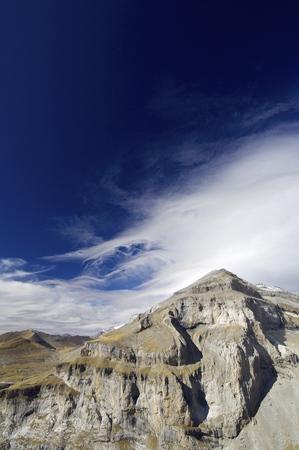 perdido: View of Monte Perdido Massif in Ordesa National Park, Pyrenees, Huesca, Aragon, Spain