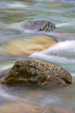 perdido: Two stones in a river; Pineta Valley; Ordesa and Monte Perdido National Park; Huesca; Spain Stock Photo