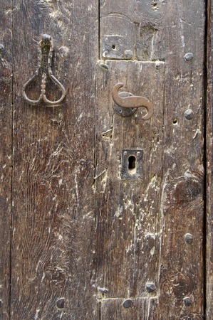 forefront: Forefront of the handle of a wooden door