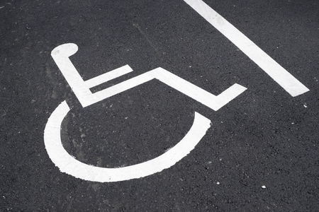 paralyze: Parking place reserved for disabled people.