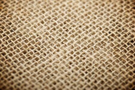 Close up of natural burlap hessian sacking. photo