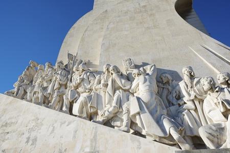 descubridor: Monumento a los Descubrimientos de Nuevo Mundo, Belem, Lisboa, Portugal.