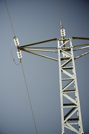 pillage: Power line in Zaragoza province Aragon Spain. Stock Photo