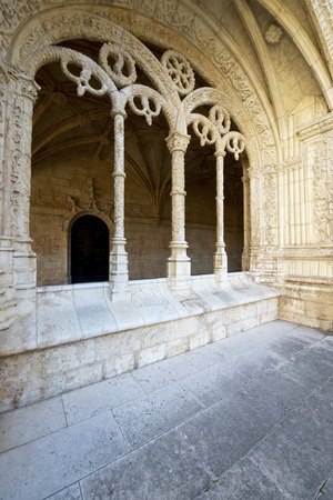 cloister: Cloister of Jeronimos Monastery, Lisbon, Portugal. Stock Photo