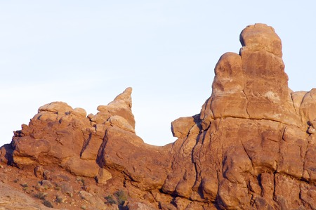 moab: Rocky cliffs near Moab, Utah, Usa.