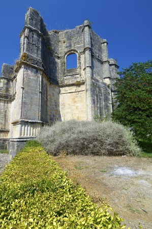 ribatejo: Ruins in Templar convent  of Christ, Tomar, Ribatejo, Portugal.