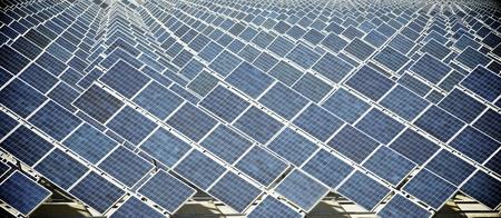 zaragoza: Photovoltaic panels for renewable electric production, Zaragoza province, Aragon, Spain.