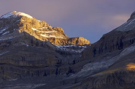 anisclo: Sum de Ramond peak (3254m.) in Ordesa National Park, Anisclo Canyon, Huesca, Aragon, Spain. Stock Photo
