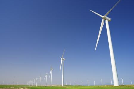 aragon: Windmills for electric power production, Zaragoza province, Aragon, Spain Stock Photo