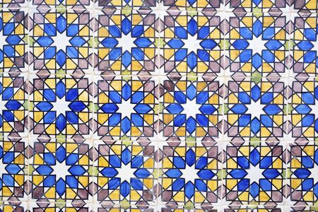 tiled wall: Background created by a tiled wall, Sintra, Lisbon, Portugal.
