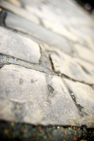 Stone floor background in Paris, France. photo