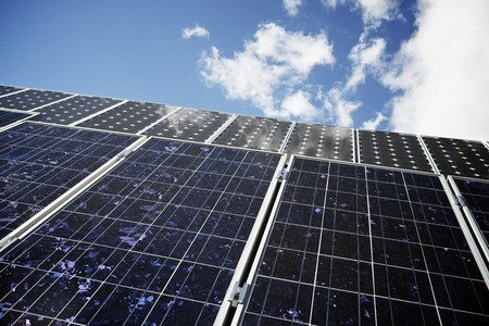 photocell: detail of a photovoltaic panel for renewable electric production