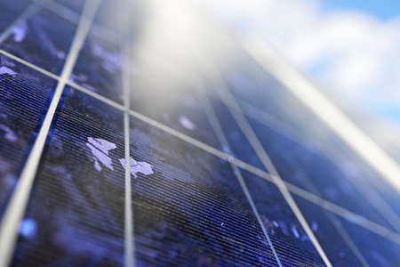 photovoltaic panel: detail of a photovoltaic panel for renewable electric production