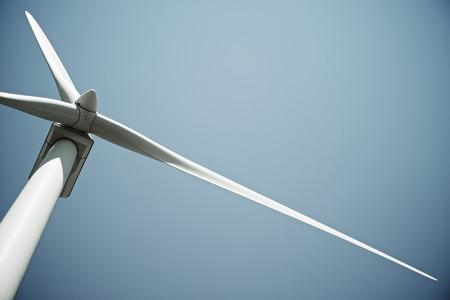 eficiencia: Molino de viento para la producción de energía eléctrica, Provincia de Burgos, Castilla y León, España. Foto de archivo