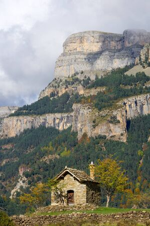 romanesque: small Romanesque chapel in the Pyrenees.