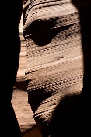 canyon walls: abstraction created by sandstone walls of Antelope Canyon, USA. Stock Photo
