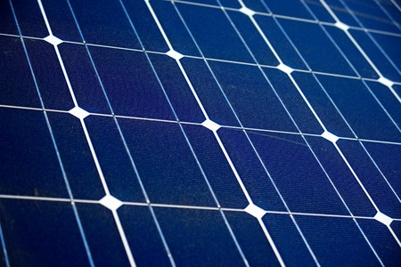 photoelectric: detail of a photovoltaic panel for renewable electric production