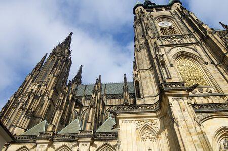 14th century: St. Vitus Cathedral, Gothic, 14th century, Prague, Czech Republic. Stock Photo