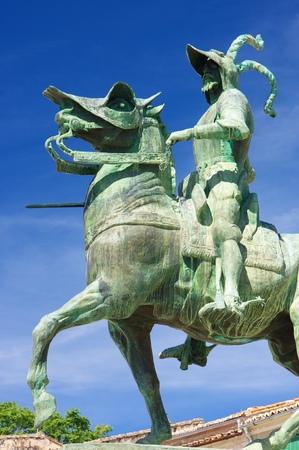 pizarro: Equestrian statue of Francisco Pizarro, Trujillo, Caceres, Extremadura, Spain.