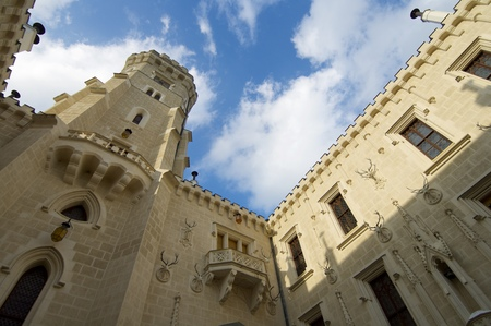 nad: Hluboka nad Vltavou castle in Czech Republic.