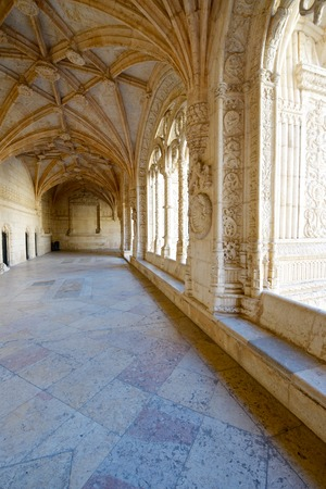 cloister: Cloister of Jeronimos Monastery, Lisbon, Portugal. Editorial