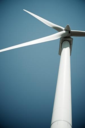 Windmolen voor stroomproductie, Burgos Province, Castilla Leon, Spanje.
