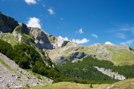 aragon: Candanchu Mountains in Pyrenees, Canfranc Valley, Aragon, Huesca, Spain.