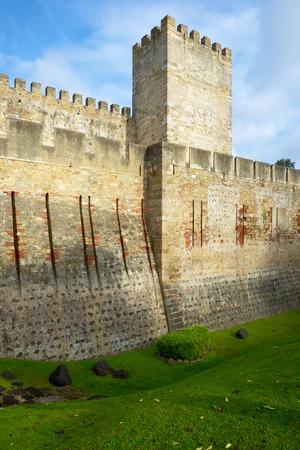 jorge: Castle of San Jorge in Lisbon, Portugal.
