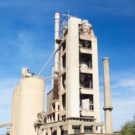 zaragoza: Exterior view of a cement factory, Morata de Jalon, Zaragoza province, Aragon, Spain. Stock Photo