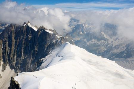 massif: Mont Blanc Massif in Chamonix, Alps, France.