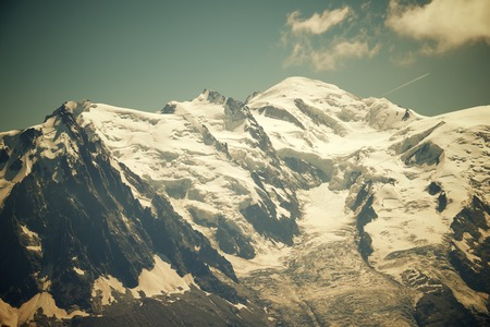 massif: Mont Blanc, Mont Blanc Massif, Chamonix, Alps, France Stock Photo