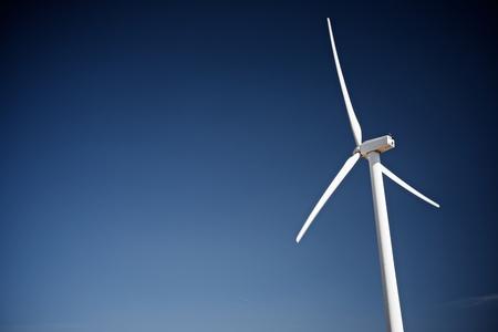 molino: Windmill for electric power production, Zaragoza Province, Aragon, Spain. Foto de archivo
