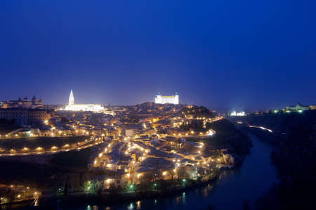 a nocturne: Night view in Toledo, Castilla La Mancha, Spain