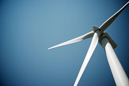 Windmolen voor elektrische energie productie, Burgos provincie, Castilla-León, Spanje. Stockfoto - 48436662