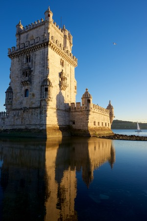 the tagus: Belem Tower on Tagus river, Lisbon, Portugal.