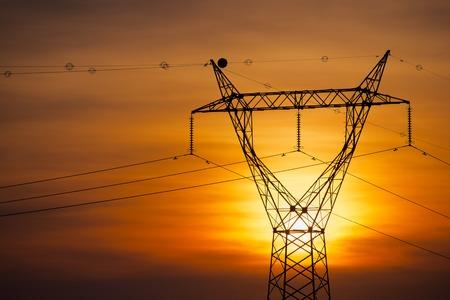 zaragoza: Power line in Zaragoza province, Aragon, Spain Stock Photo
