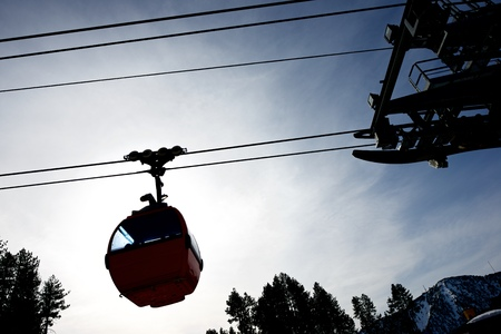 cable car: Cable car at a ski resort in Andorra.