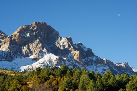 abrupt: Telera Peak, Partacua Mountains, in Tena Valley, Aragon, Huesca, Spain. Stock Photo
