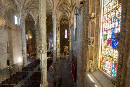 church interior: Church interior in Jeronimos Monastery, Lisbon, Portugal. Editorial