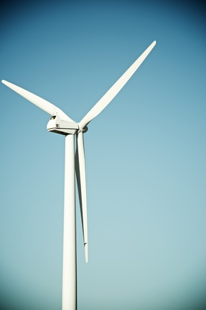 windfarms: Windmill for electric power production, La Muela, Zaragoza Province, Aragon, Spain.