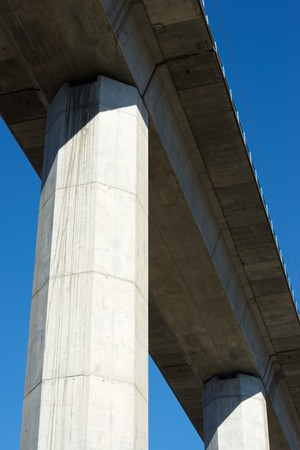 highspeed: view of a high-speed viaduct in Zaragoza Province, Aragon, Spain. AVE Madrid Barcelona.