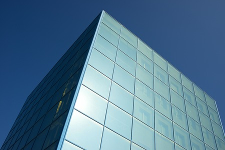corporate building: Corporate building in a business office center. Stock Photo