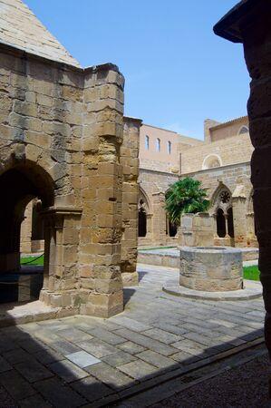 zaragoza: Rueda Cistercian monastery, XIII century, Escatron, Zaragoza, Aragon, Spain.