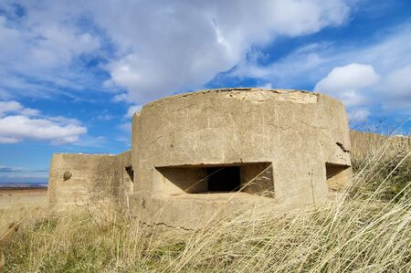 pillbox: bunker used in the Spanish civil war, Tosos, Saragossa, Aragon, Spain