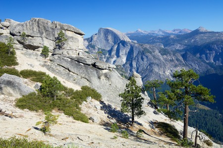 half dome: view of the mountain known as Half Dome in Yosemite National Park, California, United States.