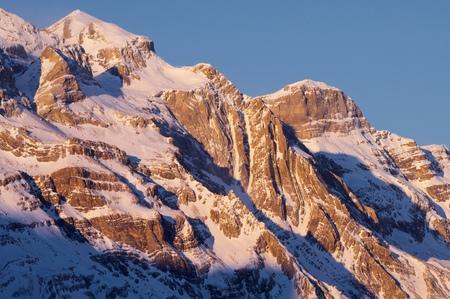 perdido: Monte Perdido (3355 m.) and Cilindro de Marboré (3325 m.), Pineta Valley, Ordesa and Monte Perdido National Park. Pyrenees, Huesca, Aragon, Spain.