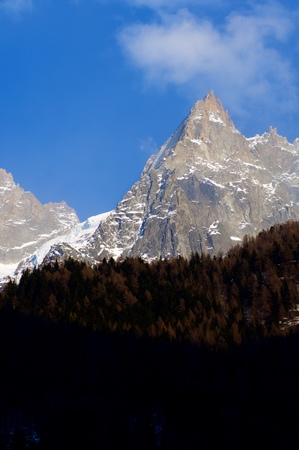 aiguille: Aiguille du Blaitiere, 3522 m, Aiguilles du Chamonix, Mont Blanc Massif, Alps, Chamonix, France Stock Photo