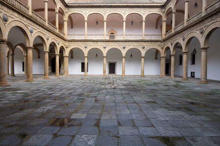 castilla la mancha: courtyard of the Hospital de Tavera, Toledo, Castilla La Mancha, Spain Stock Photo
