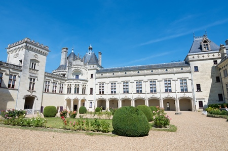 family owned: Castle courtyard Breze, Loire Valley, France. Built between the 11th and 19th centuries, it houses an extraordinary subterranean complex, a castle in a castle. It is owned by the family Colbert, and since 2000 is open to the public.