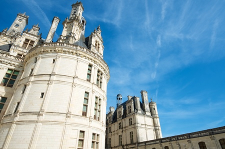 frequented: Chambord, France - August 16, 2012: Chambord Castle. Built as a hunting lodge for King Francois I, between 1519 and 1539, this castle is the largest and most frequented of the Loire Valley.
